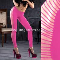 Buy cheap Women's Hosiery Horizontal Stripes Fashionable Footless Pantyhose Leggings from wholesalers