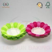 Buy cheap Bake Ware Red-color-Flower-Shaped-Baking-Paper-Cupcake from wholesalers