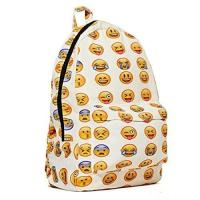 Buy cheap New QQ Printing Emoji Backpack Canvas Travel Satchel Cute Gril School Rucksack from wholesalers
