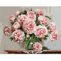 Buy cheap Flower Home Decor Wall Art Canvas Painting by Numbers Kit from wholesalers
