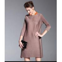 Buy cheap 3/4 Sleeve Vintage Pleated Plus Size Crochet Dress from wholesalers