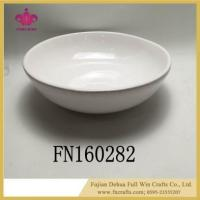 Buy cheap White Ceramic Pasta Bowls Recipe Bowls Set with Porcelain from wholesalers