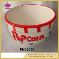 Buy cheap Ceramic Popcorn Bowl with Lid Ceramic Cantainer Gift Set Walmart from wholesalers