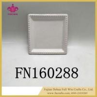 Buy cheap Ceramic Square Plate White Dinner Set for Restaurant with Hangers Square Plate Chargers from wholesalers