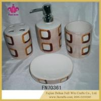 Buy cheap Dolomite Bathroom Set Gargle Tumbler Cup Lotion Dispenser Toothbrush Holder Soap Dish from wholesalers