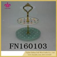 Buy cheap Ceramic Jewelry Double Layers Tray for Home Decorations for Mother's Day product