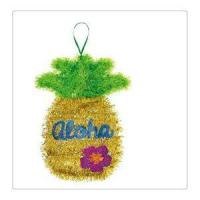 Hot Selling Shiny Tinsel Hanging Loop Flip-Flops or Summer Luau Pink Flamingo