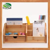 Buy cheap Eco-friendly Bamboo Space Saving Desk Storage Caddy Organizer Accessories from wholesalers