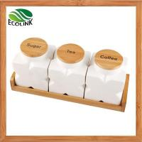 The wood lid canister quality the wood lid canister for sale for Kitchen set bekas