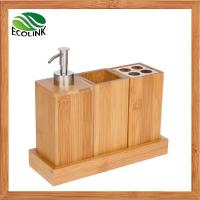Buy cheap Bamboo Wood Bathroom Accessories Bath Vanity Caddt Set 4 PCS from wholesalers