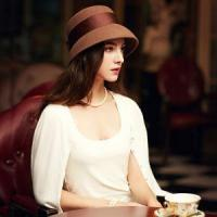 Buy cheap Autumn and Winter 100% Wool Vintage Hat for Women Elegant Camel Black Bowknot Felt Fedora Hats from wholesalers