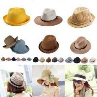 Buy cheap Straw Panama Fashion Wide Brim Hat Fashion Floppy Ladies Dress Hats Wholesale from wholesalers