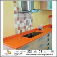 Buy cheap Beautiful Different Custom Dark Orange Quartz Countertops for Bathroom and Kitchen from wholesalers
