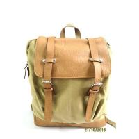 Buy cheap Canvas Leather Backpack Good Small Travel Satchel Backpack for Adults Boys from wholesalers