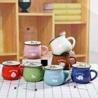 Typical Porcelain Mugs Colorful Breakfast Cups