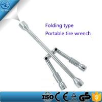 Buy cheap 4-Way Lug Wrench Multi-purpose Folding Automobile Tire Cross Wrench from wholesalers
