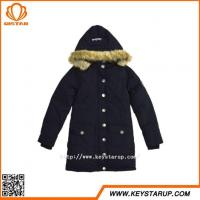 Buy cheap Competitive Hot Product Faux Fur Hood Jacket Single Breasted Ladies Coat Medium Outerwear from wholesalers