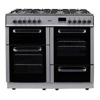Buy cheap Teknix TKRC100S 100cm Dual Fuel Range Cooker in Silver from wholesalers