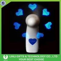Buy cheap 2017 New Product Handheld Flashing Led Message Small Fan from wholesalers