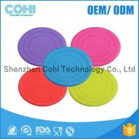 Buy cheap Useful farbic dog toys silicone flying frisbee promotional pet product from wholesalers