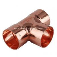 Buy cheap 1-1/4 Copper Tee CxCxC Sweat Plumbing Fitting from wholesalers