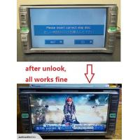 "Buy cheap Toyota DVD or SD card unlock Please insert Correct Disc"" from wholesalers"