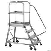 Buy cheap Aluminum mobile platform ladder from wholesalers