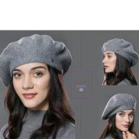 Buy cheap Lady Beret Hat for Winter Knitted Cotton Hats 2017 Brand New Arrival Good Quality Hat for Women from wholesalers