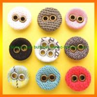 Buy cheap Wholesale fabric buttons covered with two eyelets from wholesalers