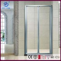 Buy cheap Pivot BiFold Shower Screen, 2 Fold 8mm Glass, Brushed Nickel Hinges(KD3207) from wholesalers