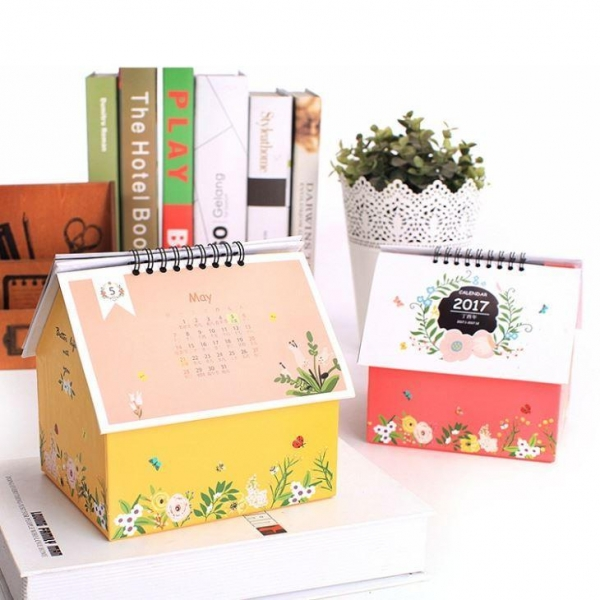 Creative Table Calendar Ideas : Small desk calendar with notepad customer promotion paper