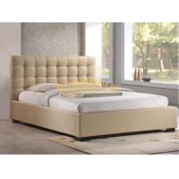 Buy cheap Beige Color Queen Size Buttons Headboard Fabric Platform Bed Frame BED-F-010 from wholesalers