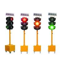 Buy cheap 200mm yellow flashing solar temporary traffic light from wholesalers
