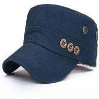 Buy cheap Adjustable Women Men Cotton Vintage Flat Military Hats Gorras Vintage Militar Cap Bone with Button from wholesalers