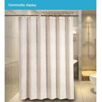 China Flowers polyester fabric shower curtain on sale