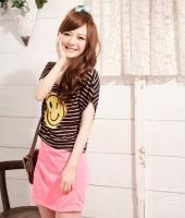 Buy cheap women Casual Style Big Smile Two Pieces Dress Pink from wholesalers