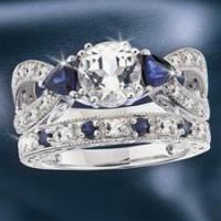 Buy cheap Best Sellers Royal Sapphire Wedding Set from wholesalers