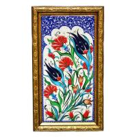 Buy cheap Assorted Hand Painted Ceramics Hand Painted Turkish Ceramic Tile-Tulip Design from wholesalers