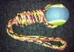 Buy cheap Best Dog toy Rope with tennis ball 2257 from wholesalers