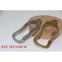 Buy cheap EST Titanium Gr5 Carabiner Key Ring Buckle Quickdraw Hook Chain Camping Hiking Backpack EDC Tool from wholesalers