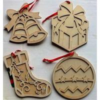 Buy cheap snowing christmas decoration/wooden christmas ornaments from wholesalers