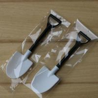 Disposable potted black and white ice cream scoop shovel small potted flower pot spoon