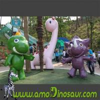 Buy cheap Fiberglass cartoon animals characters giraffe,mouse and frog from wholesalers