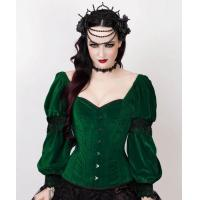 Buy cheap Roddy Gothic Black Brocade Corset with Bolero from wholesalers