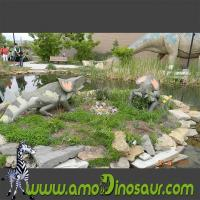 Buy cheap Reproductions of dinosaurs cartoons figures Protoceratops family statuary product