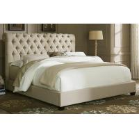 Buy cheap Chesterfield Natural Linen King Size Platform Bed from wholesalers
