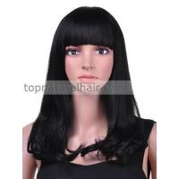 Buy cheap Gorgeous Long flowing Synthetic Lace wig with Beautiful Fringe from wholesalers