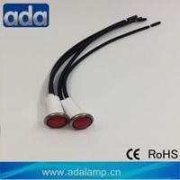 Buy cheap Metal red color 120v with AWG22 black color wire 160mm neon pilot light from wholesalers