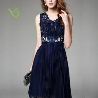Buy cheap Lady sweet lace Knee-length dress wholesale from wholesalers