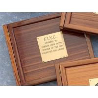 Buy cheap Weems & Plath Teak Logbook Cover - Blank Brass Plate from wholesalers